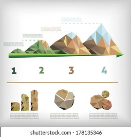 info-graphic of nature low poly style