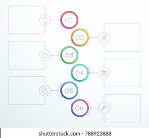 Infographic Number Circle Rings 1 to 6 Vector