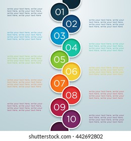 Infographic Numbers 1 to 10 In Overlapping Circles