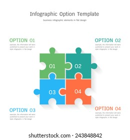 Infographic option template in flat design