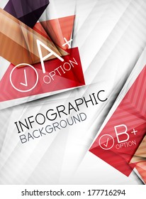 Infographic options geometrical background design. For business background | numbered banners | business lines | graphic website | mobile app