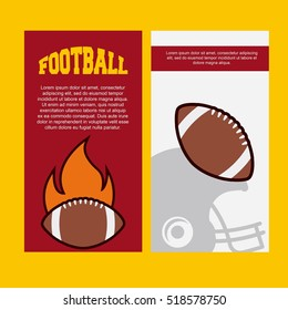 infographic presentation of american football sport . colorful design. vector illustration