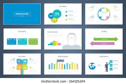 Infographic presentation elements and vector template brochures for business. Information graphics for advertisements, magazines, booklets, websites, prints, marketing etc.