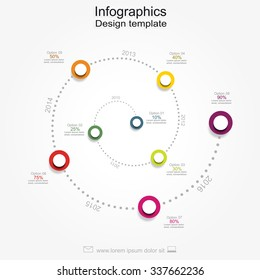 Infographic report template with place for your text. Vector illustration