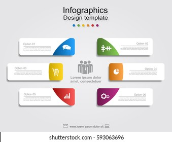 Infographic report template with place for your data. Vector illustration.