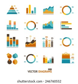 Infographic set elements, Graph and Charts, Diagrams.