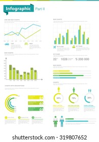 Infographic set. Part 2. Information Graphics and charts
