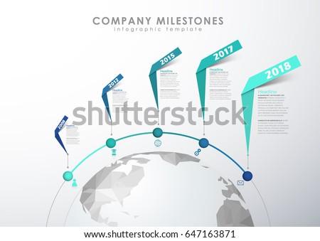 Infographic startup milestones timeline vector template stock vector infographic startup milestones timeline vector template maxwellsz