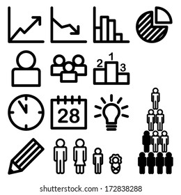 Infographic and statistic icons