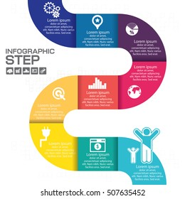 Infographic step for success business concept vector