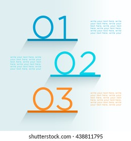 Infographic Steps On Shelves Numbers 1 to 3 Design