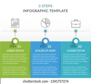 Infographic template with 3 steps, workflow, process chart, vector eps10 illustration