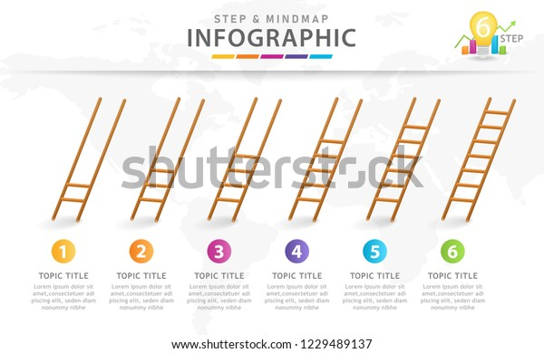 Infographic Template Business 6 Steps Modern Stock Vector Royalty Free 1229489137