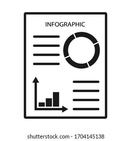 Infographic Template for Business,  chart icon, vector
