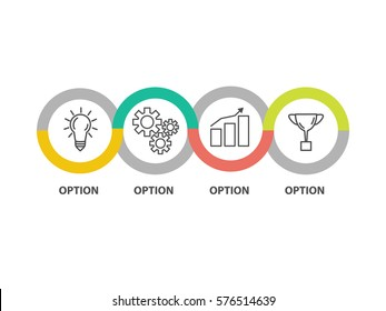 Infographic template business concept diagram. Idea. Strategy. Progress. Success. Vector EPS 10
