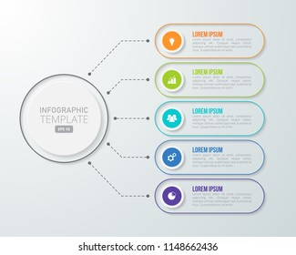 Infographic template for business, education, web design, banners, brochures, flyers, diagram, workflow, timeline. Vector illustration.