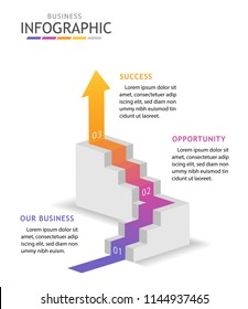 Infographic template for business with steps. Step up and overcome obstacle concept, Roadmap diagram vector infographic.