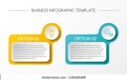 Infographic template - business timeline. Vector.