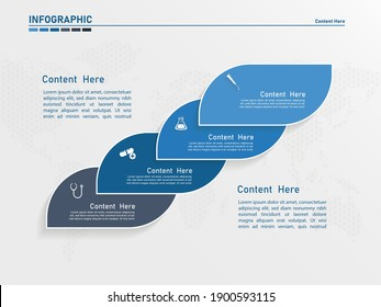 Infographic template design, infographic element.4 step infographic
