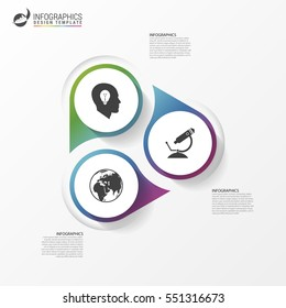 Infographic template. Diagram with 3 steps. Vector illustration
