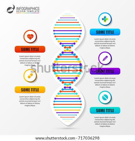 Infographic Template DNA Structure Science Concept Stock Vector ...