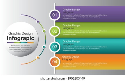 Infographic template with options and colorful icons. Vector. stock illustration Spain, Infographic, Circle, Number 4, Chart