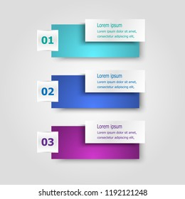 Infographic template with rectangle banners, stock vector