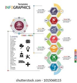 Infographic template. science, technology. vector illustration