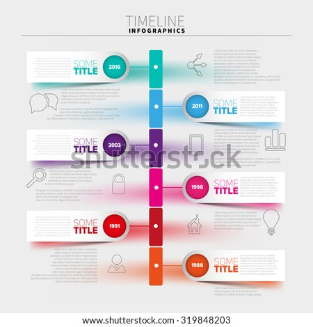 infographic template timeline report paper stripes stock vector