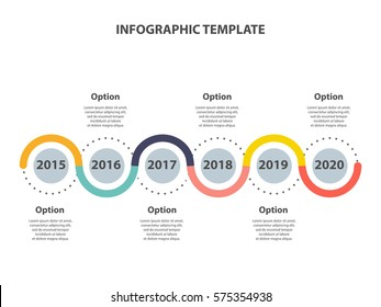 Infographic template. Timeline years perspective. Vector EPS 10