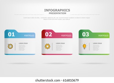 infographic template vector design .used for business chart , workflow layout , diagram , annual report and web design