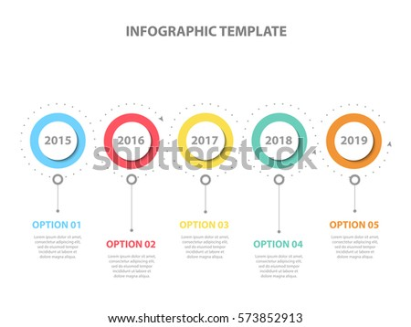Infographic Template Years Perspective Timeline Diagram Stock Vector