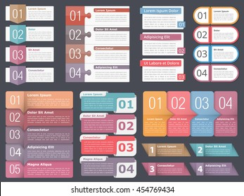 Set infographic templates numbers text business stock vector infographic templates with numbers and text business infographics elements set workflow process flashek Image collections