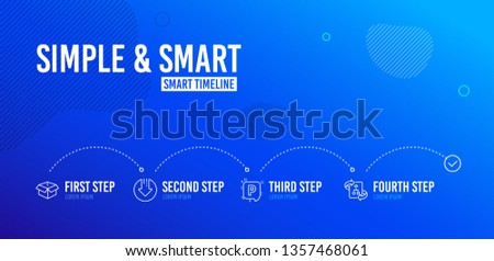 Infographic Timeline Download Arrow Opened Box Stock Vector (Royalty
