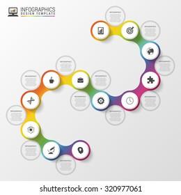 Infographic timeline spiral template. Modern business concept. Vector illustration