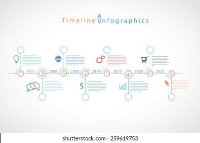 Infographic timeline vector illustration.