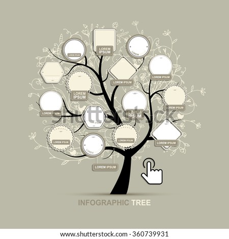 Infographic Tree Template Your Design Stock Vector Royalty Free