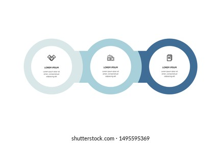 Infographic. Vector Infographic design template with icons and 3 numbers options or steps.