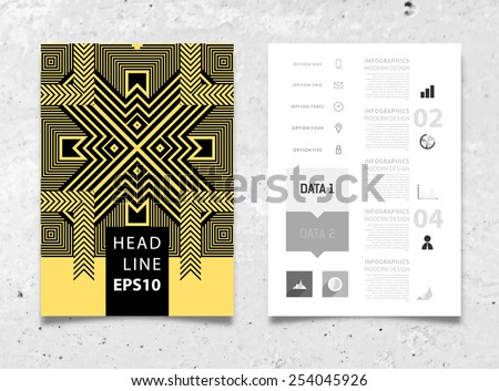 Infographic Vector Illustration Abstract Geometric Pattern