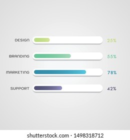 Infographic Vector Illustration for Progress Bar. Perfect for Presentations, Infographics, Posters and Brochures.