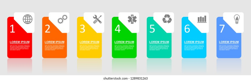 Infographic vector template for presentation, chart, diagram, graph, business concept with 7 options