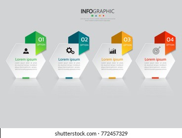 infographics banners, vector template with 4 options can be used for workflow layout, diagram, website, corporate report, advertising, marketing.