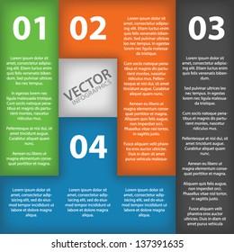 Infographics in brick pieces vector EPS10