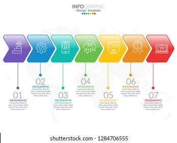 Infographics for business concept with icons and 7 options or steps.