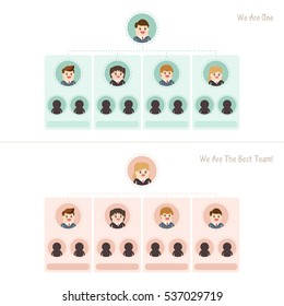 infographics career ladder, avatar of organizational chart corporate business hierarchy