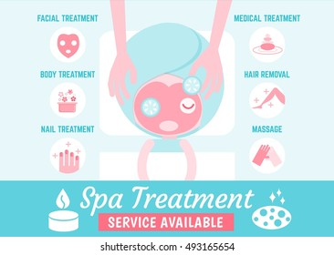 infographics cartoon character about spa treatment
