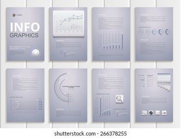 Infographics. Charts, diagrams, comparative scale, the percentage of items. 3d plastic design icons and graphics Can be used in presentations, websites, printed materials.Set elements of infographics