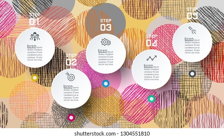 Infographics circle shape with abstract background.
