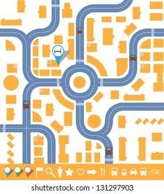 infographics city map. vector set eps10