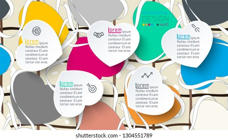 Infographics with colorful heart label.